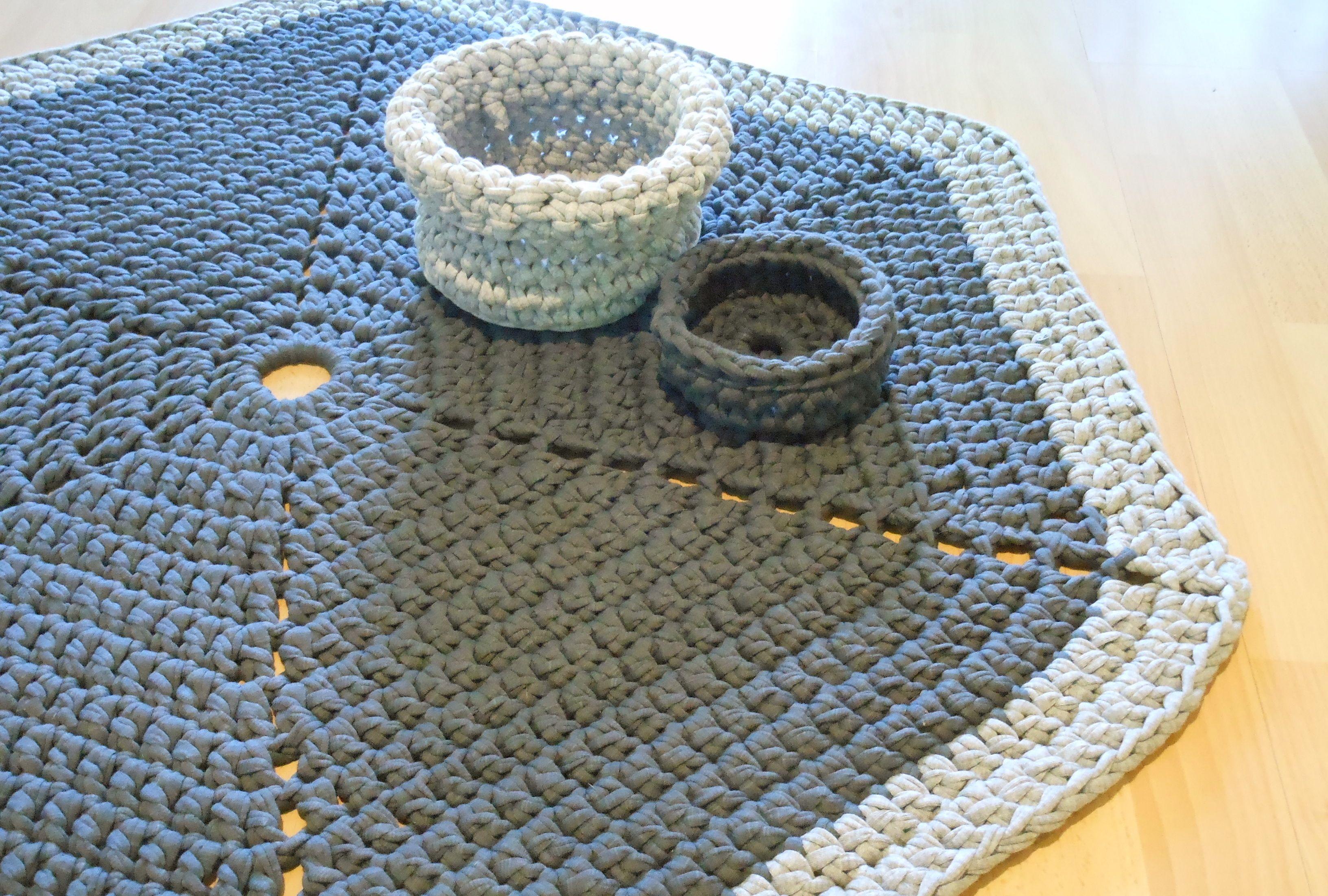 Crochet hexagon carpet   Yalotar